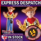FANCY DRESS ~ TOY STORY DELUXE WOODY COSTUME MEDIUM AGE 5-6